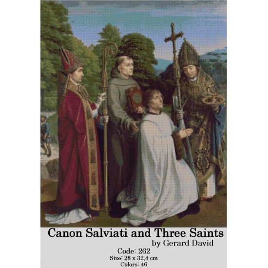 Canon Salviati and Three Saints by Gerard David