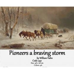 Pioneers a braving storm