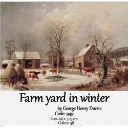 Farm yard in winter
