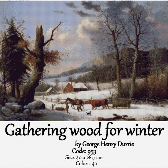 Gathering wood for winter
