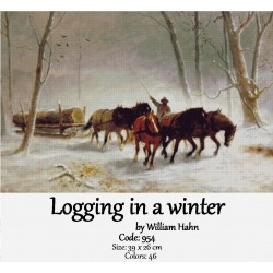 Logging in a winter