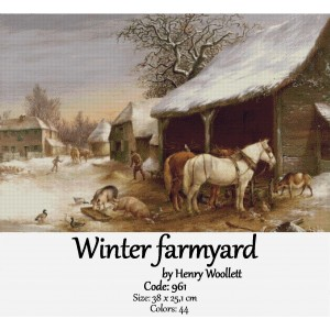 Winter farmyard