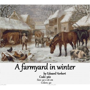 A farmyard in winter