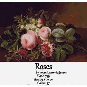 Roses by Johan Laurentz Jensen