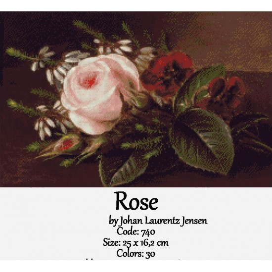 Rose by Johan Laurentz Jensen
