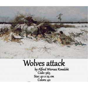 Wolves attack by Johan Laurentz Jensen
