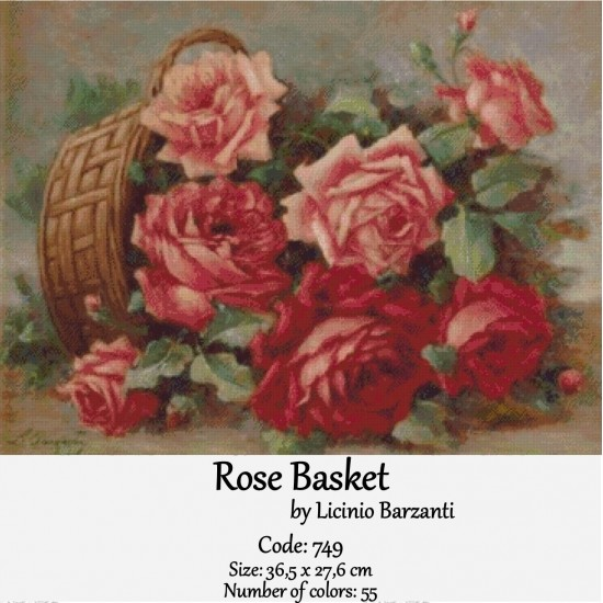Rose basket by Barzanti