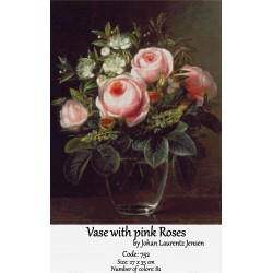 Vase with pink roses
