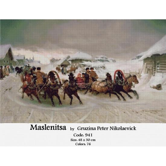 Maslenitsa by Gruzina Peter Nikolaevick