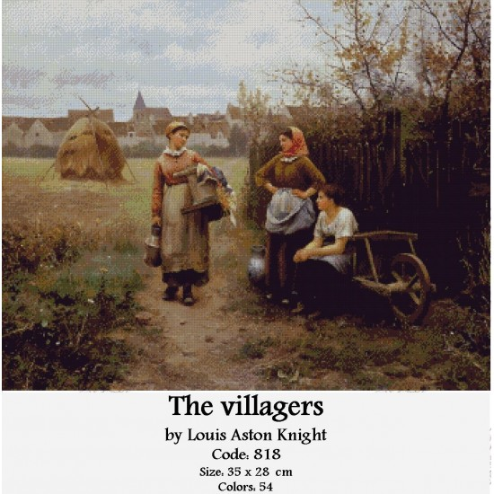 The villagers by Louis Aston Knight
