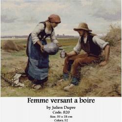 Femme versant a boire by Julie Dupre