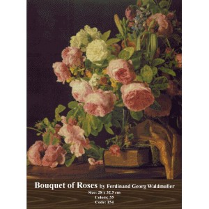 Bouquet of Roses by Ferdinand George Waldmuller