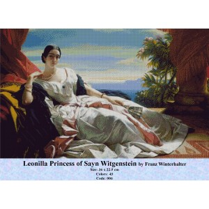 Leonilla Princess of Sayn Witgenstein by Franz Winterhalter