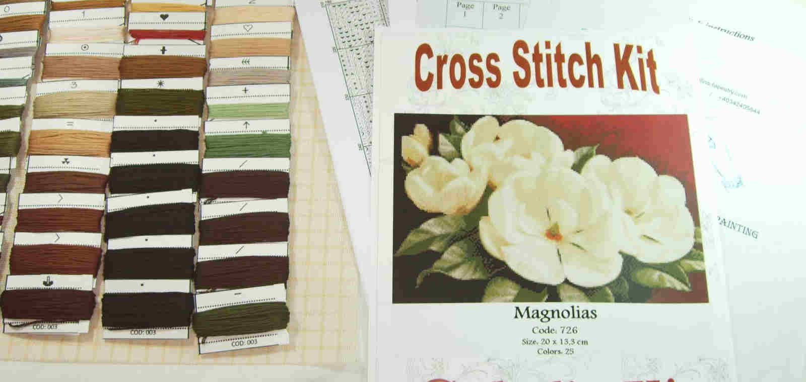 Cross Stitch Kit Elements