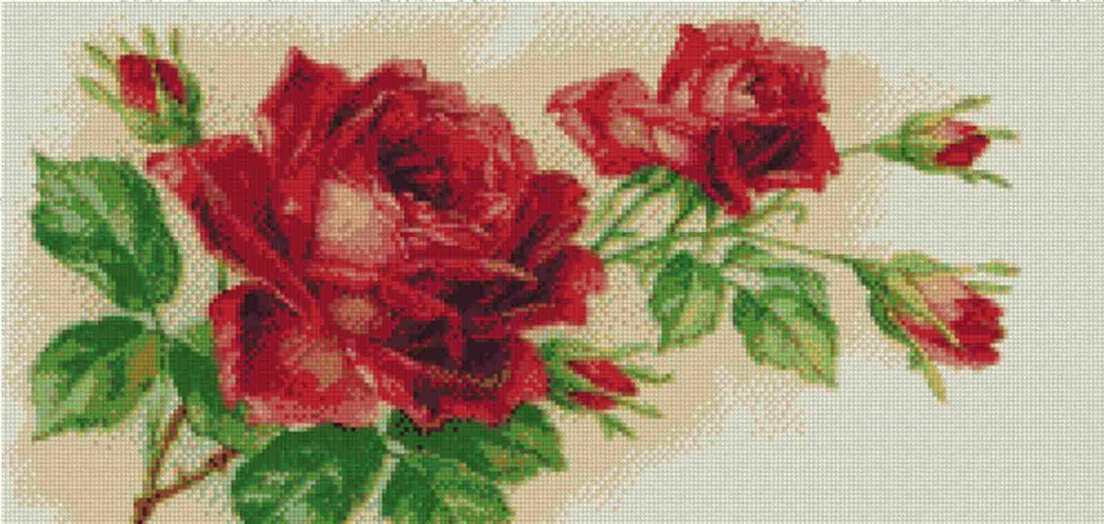 Free Cross Stitch Charts - Red Rose