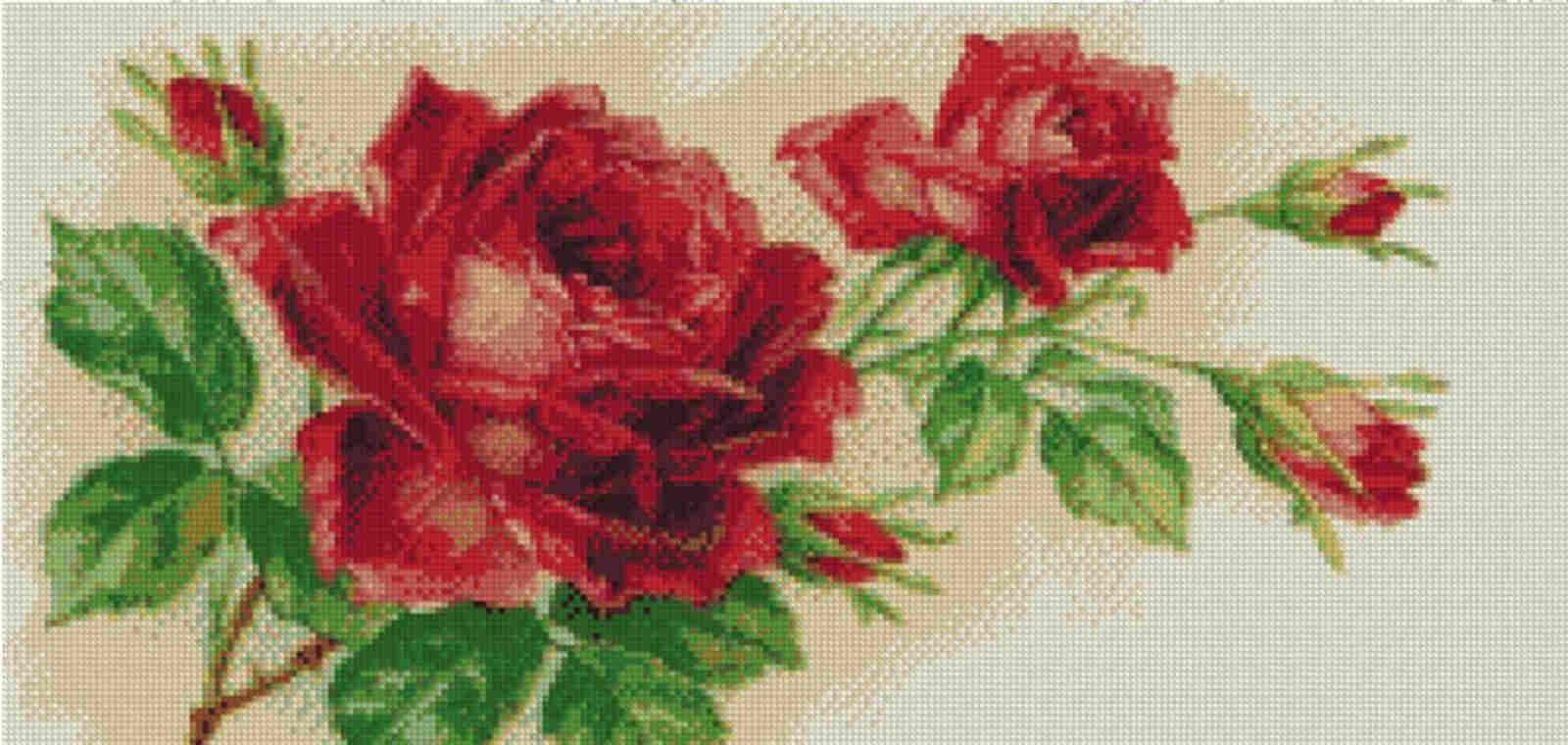 Free Cross Stitch Charts - Red Rose