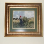 Completed cross stitch tapestry – Gathering Hay by Julien Dupre