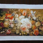 Completed – Counted Cross Stitch Tapestry – Symphony Flowers