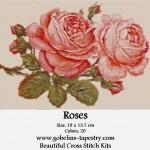 Free Cross Stitch Charts – Roses