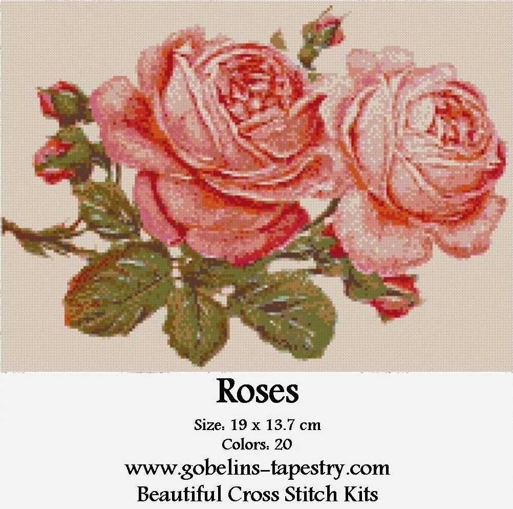 Free Cross Stitch Charts – Roses