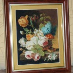 Completed Cross Stitch Tapestry – Spring Flowers