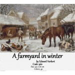 Counted cross stitch kit – A farmyard in winter