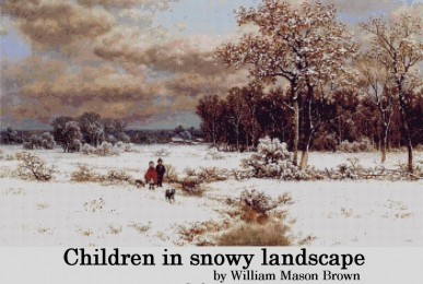 children-in-snowy-landscape-by-william-mason-brown