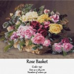 Counted cross stitch kit – Rose Basket